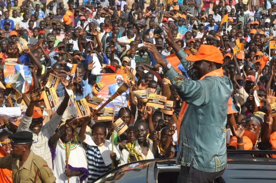 A  Rupturous Welcome For Raila In West Pokot