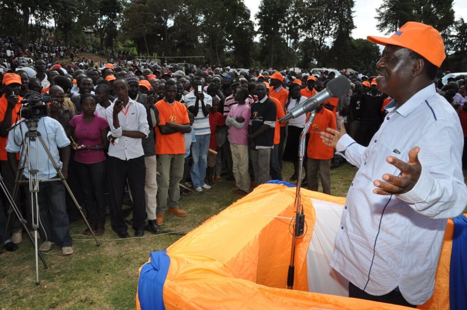 "Raila Odinga ""CORDing"" Baringo, Amazing Crowd In Kabarnet Town."