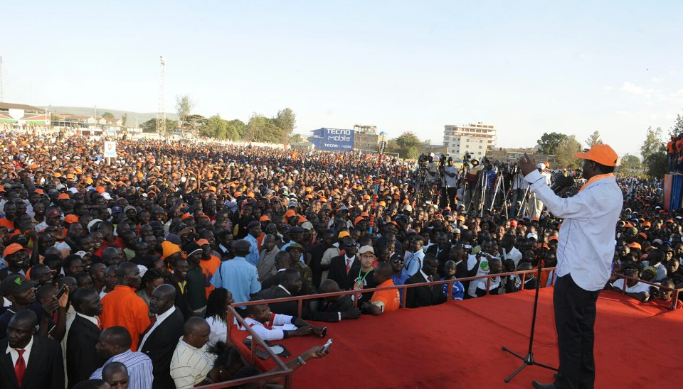 The CORD Crowd At Afraha Stadium-Nakuru; Rift Valley Is A Tossup!