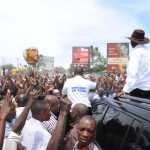 Prime Minister Raila Odinga Mobbed By Supporters In Mombasa