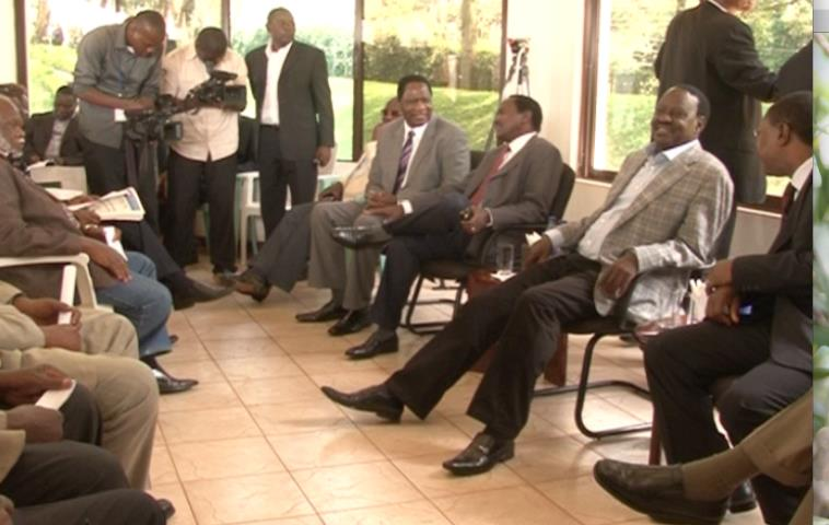 The Prime Minister Raila Odinga Meets CORD MPs and Senators At His Karen Home