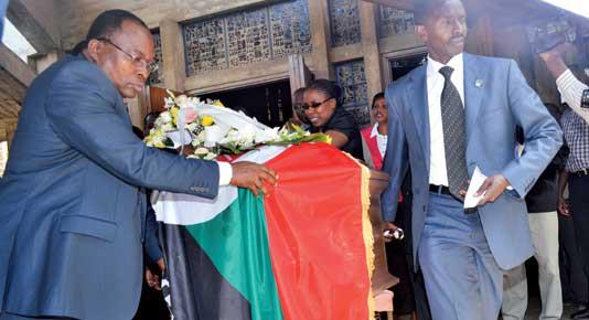 Drama At Okuta's Funeral-The Widow Refers To Raila As His Excellency The President of Kenya