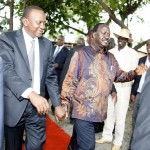 Show Of Unity: Raila Odinga Holds Hand With Uhuru Kenyatta As They Do Carpet Walk In Nyando