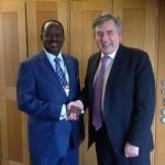 Going Global: Raila Odinga Meets Former UK Prime Minister Gordon Brown In London