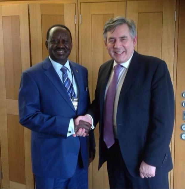 Going Global: Raila Odinga Meets Former UK Prime Minister Gordon Brown In London