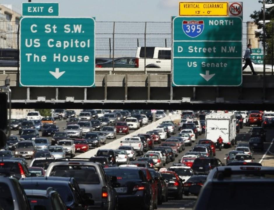 Raila Odinga's Motorcade Causing Huge Traffic In Washington