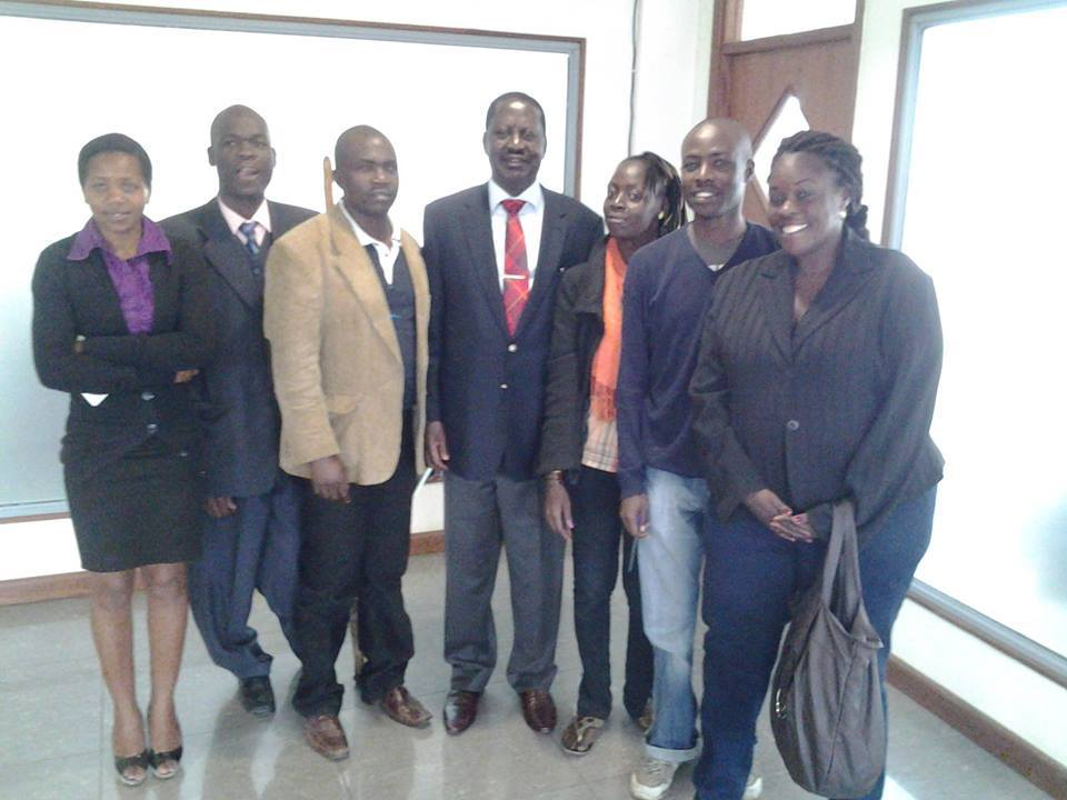 Eye on the Future: Odinga Meets 'ODM YOUTH 2012' Lobby Group in a surprise move