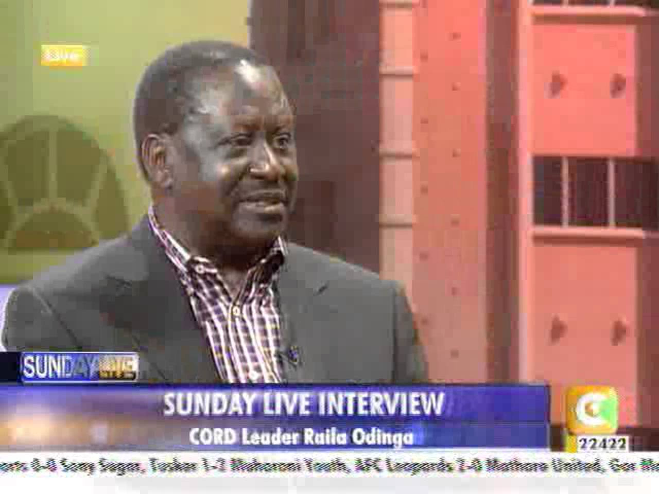 Prime Minister Raila Odinga's Interview With Julie Gichuru On Citizen TV's Sunday Live.