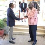 Uhuru Kenyatta Meets His Principal Mzee Daniel T Arap Moi At His Kabarak Home