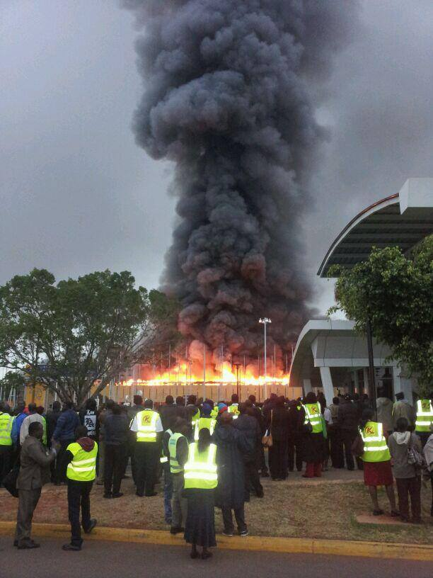 LIVE Streaming From JKIA: Fire Engulfs The International Arrivals Terminal