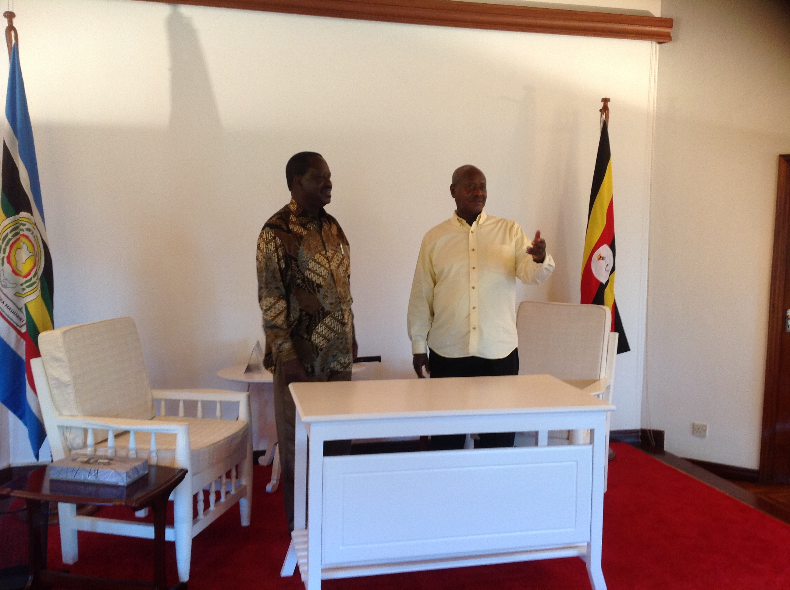 Prime Minister Raila Odinga Meets President Museveni -Statehouse Kampala