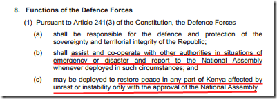 functions of the defence forces