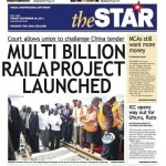photo: 'Star Newspaper' Error of the year: Multi billion Rail project a Raila project!