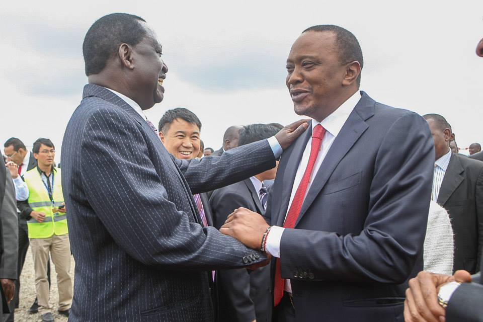 Raila Joins Uhuru at JKIA new terminal groundbreaking ceremony