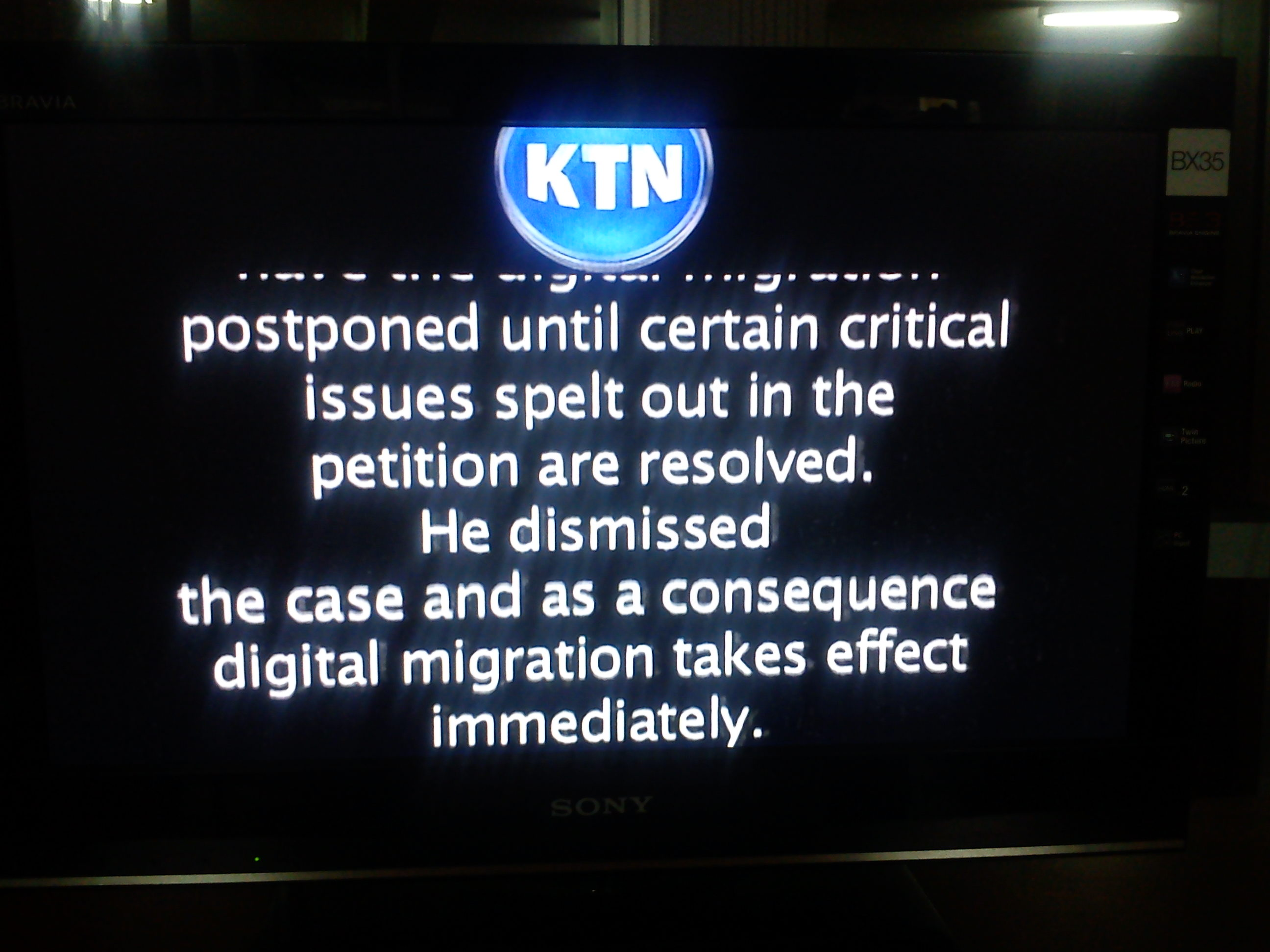 It's DARK CHRISTMAS as NTV, KTN, CITIZEN and QTV  SWITCH OFF transimission in Kenya