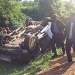 BREAKING: Governor Kidero escapes unhurt as his Range Rover rolls in Keumbu- Kisii