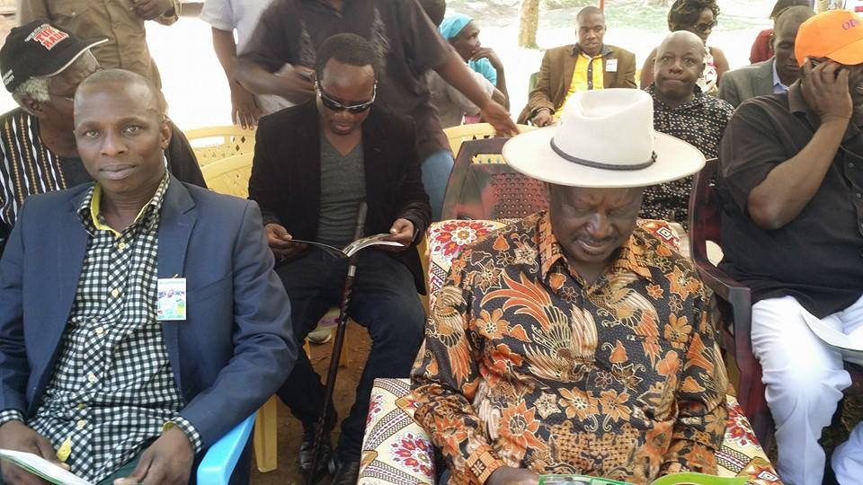 Raila Attends Burial of Blogger Roy Kohadha