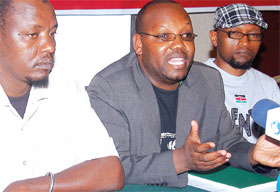 Mr Odhiambo (in the middle) at a past event. [photo/google]