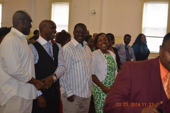 Prime Minister Raila Odinga joined other WORSHIPPERS for a Church service in Lowell, Massachusetts USA