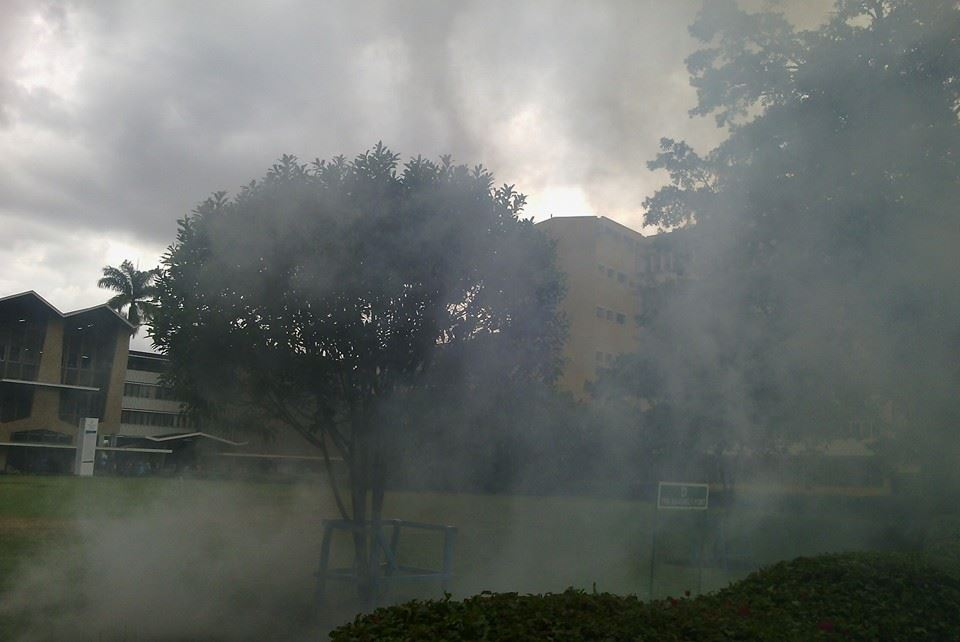 DEMO PHOTO: Police launch TEARGAS at University of Nairobi but strike continue anyway