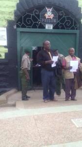 The accused leaving Makadara Law Courts