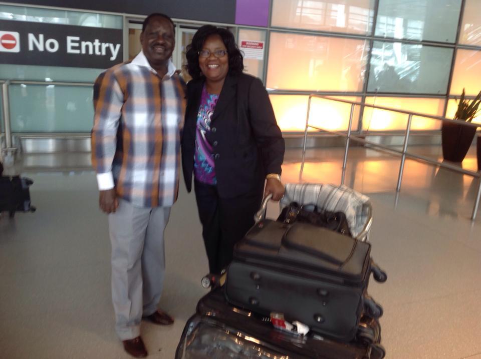 Finally mama Ida Odinga Joins Prime Minister Raila Odinga in Boston USA