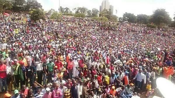 …so WHAT happened at Raila's Uhuru Park rally?