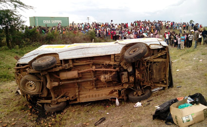 Breaking: 14 people perish in a grisly road accident