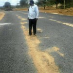 SHOCKING: Governor Alfred Mutua's LAUNCHED 'super highway' already FALLING apart one WEEK LATER!