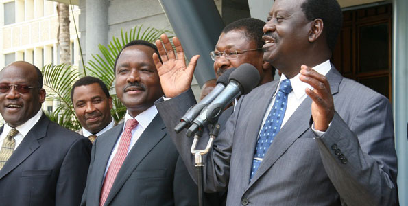 """Raila to Uhuru: CORD did NOT demand """"Mkate Nusu"""", we demand ELIMINATION of Corruption and deliver your promise to Kenyans"""