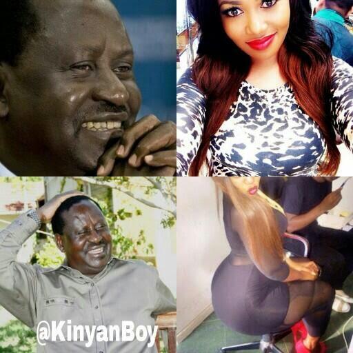 Hilarious: Baba Raila's Reaction on Vera Sidika's going WHITE and Booty Photos