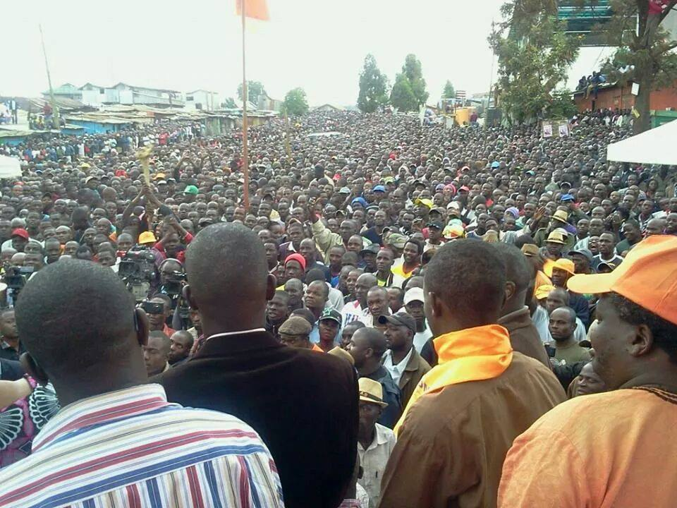 MASS of HUMANITY POURS in Kebera to Listen to Raila the peoples' LEADER