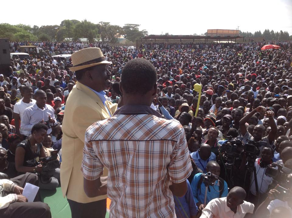 Ruto SHOCKED as Raila's Eldoret RALLY gets FLOODED with KALENJINS!