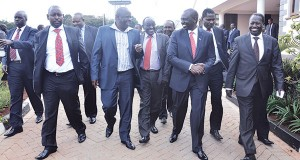 FRIENDS AGAIN: William Ruto and Isaac Rutto when the former hosted them at his Karen home