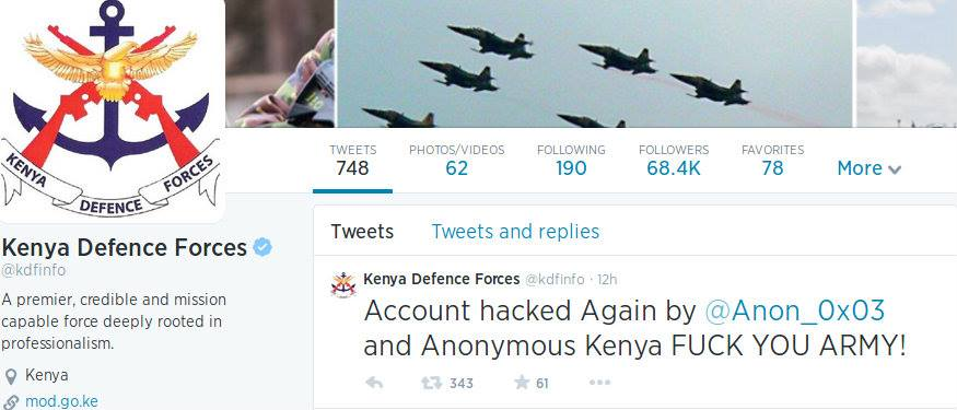 KDF twitter Account HACKED again