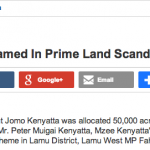 Uhuru orders repossesion of 500,000 acres of land BUT NOT that OWNED by the KENYATTAs