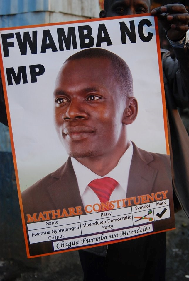 FWAMBA NC FWAMBA hits Ground running in Mathare byelection, to pull a surprise.