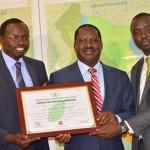 Raila HONORED with an INTERNATIONAL environmental AWARD