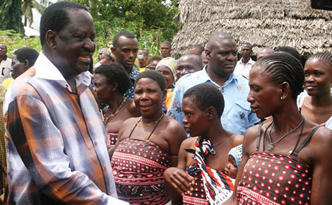 Raila says NOTHING will STOP the referendum as COAST leaders pledge loyality to CORD