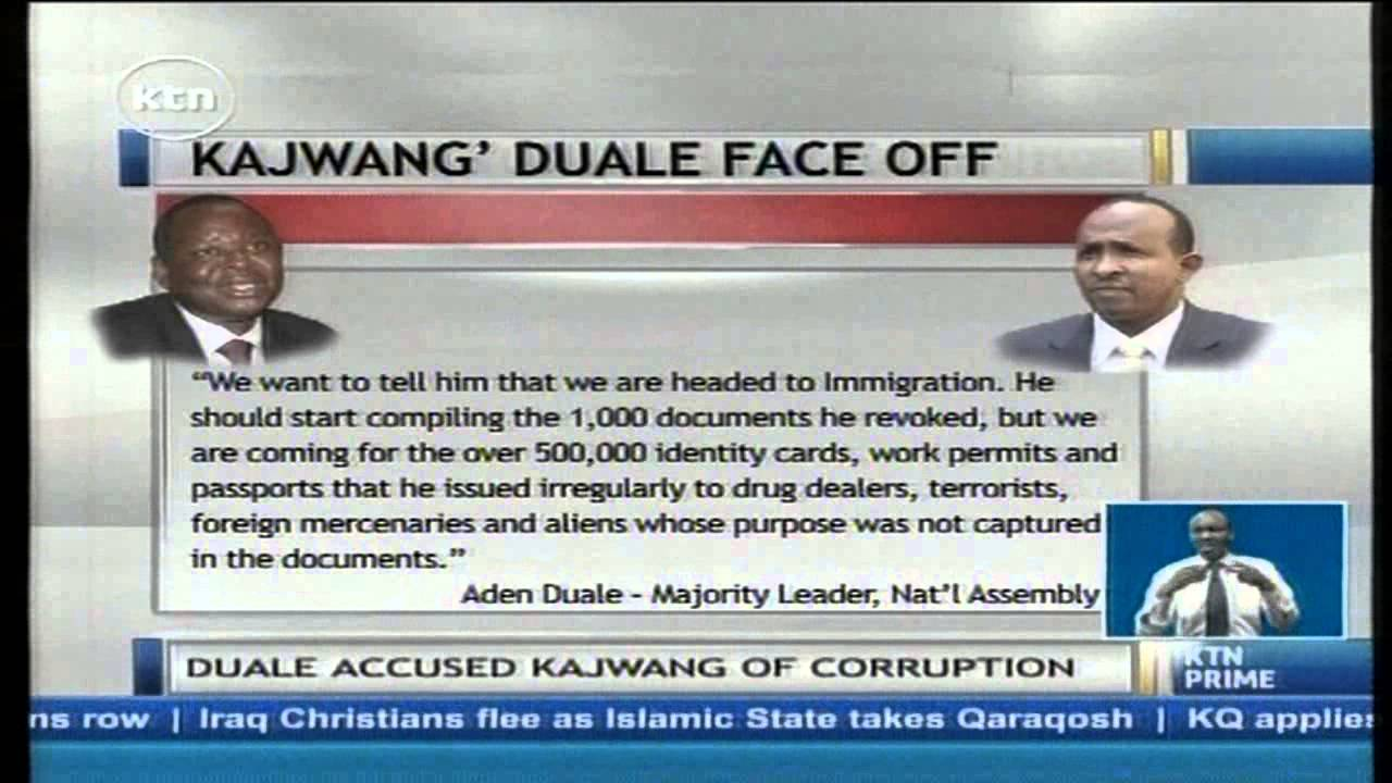 Loud-Mouthed Duale now begs Kajwang' to 'go easy' on him after reckless remarks