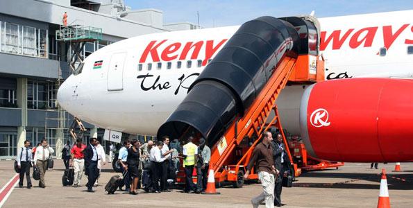 BREAKING via Robert Alai:  Kenya Aiways flight from Ghana had a suspected EBOLA passenger