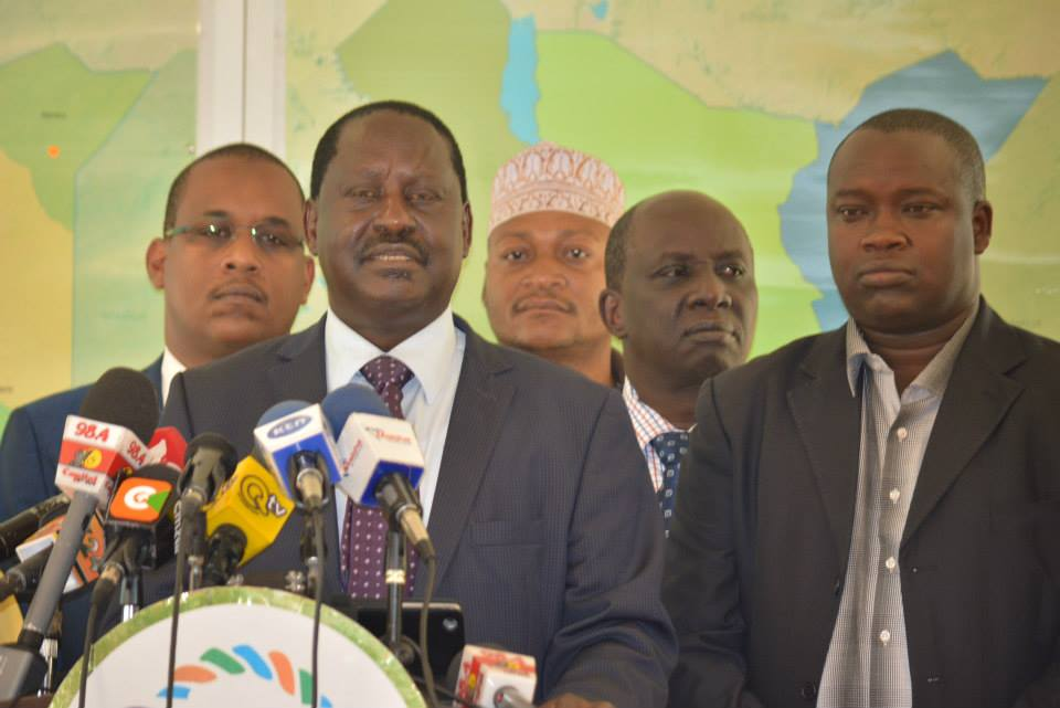 Full Press Statement by CORD Leader Raila Odinga to members of the press