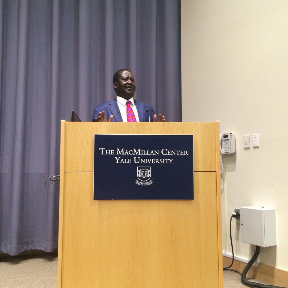 Prime Minister Raila Odinga at the PRESITIGIOUS YALE University in PICTURES