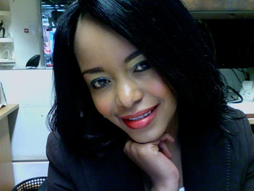 KTN's s average beauty Sophia Wanuna PROMOTES self on TV,  may be in need of a 'Quincy Timberlake' admirer?