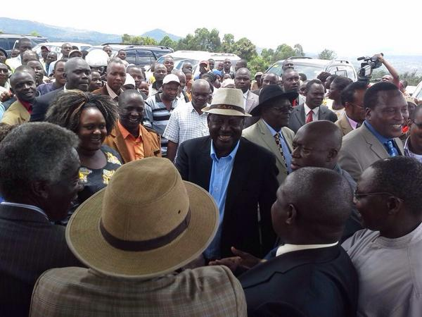 Raila given AMAZING reception by Gusii people, set to INSPECT county development projects!