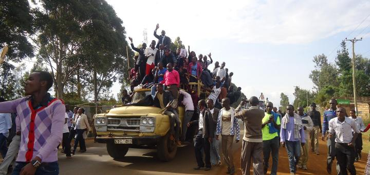 University of Eldoret students on rampage after admin pinned students exam results on noticeboards
