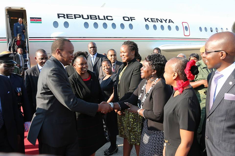 President Uhuru in Zambia for Sata burial