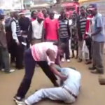 VIDEO: NYERI LADY GIVES a tout A SERIOUS BEATING after THREATENING TO STRIP HER!