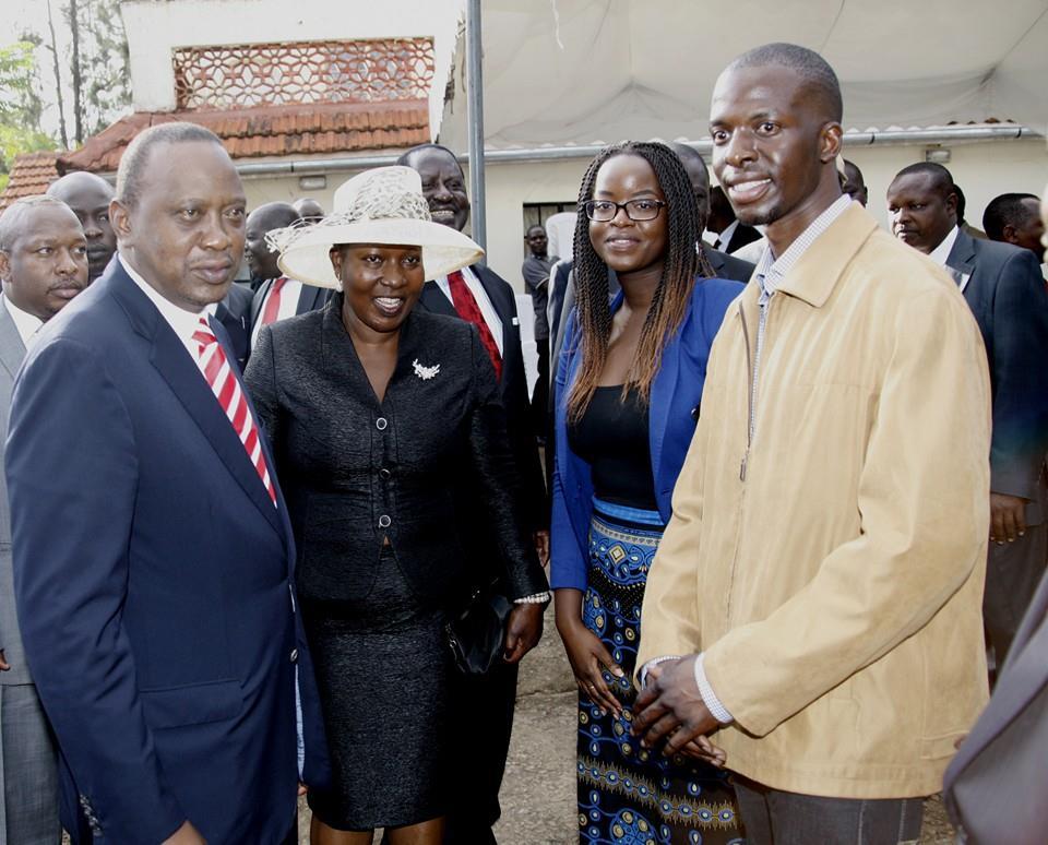 BEAUTIFUL daughter and son of the late senator Otieno Kajwang'