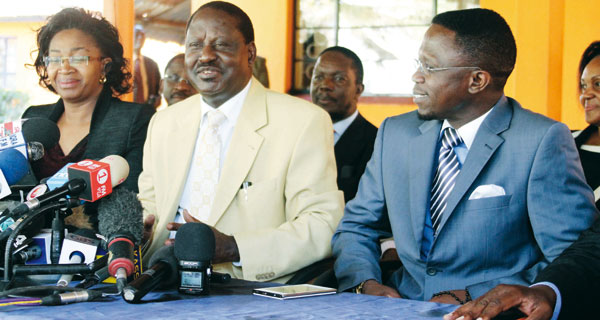 Raila WILL NOT vie for Homabay Senate seat, it will be Silas Jakakimba or Hilary Alila